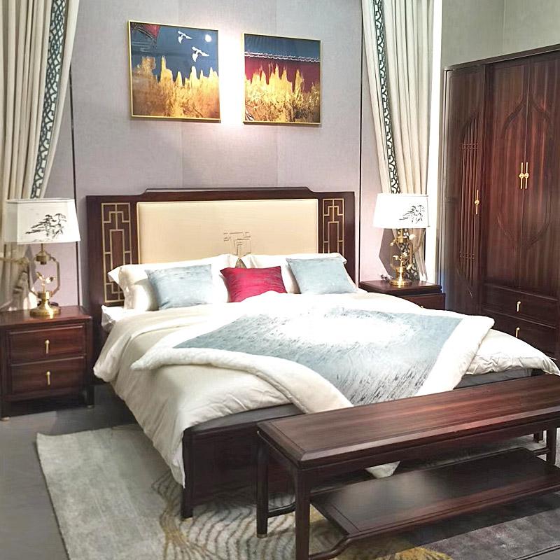 新中式床TM9908