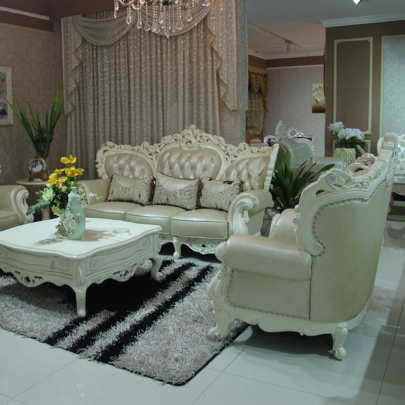 欧式沙发8058白色_乐从欧式家具