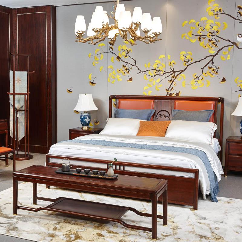 新中式家具TM9906床